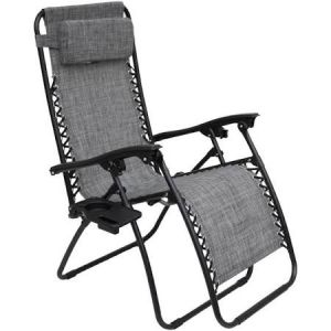 Royalcraft Grey Zero Gravity Relaxer Chair