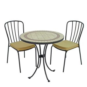 Henley 71cm Bistro Table with 2 Milan Chairs