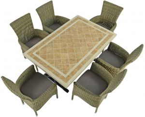 Hampton Dining Table with 6 Dorchester Chairs