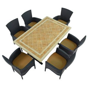 Hampton Dining Table with Stockholm brown chairs
