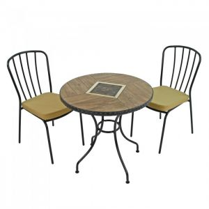 Haslemere 71cm Bistro Table with 2 Milan Chairs