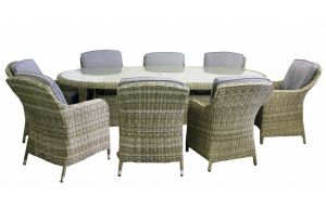 Royalcraft Wentworth Rattan Oval 8 Seater Imperial Dining Set