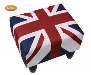 Gardeco Union Jack Leatherette Footstool
