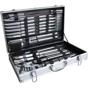 Lifestyle 24 Piece Stainless Steel BBQ Toolkit with Case