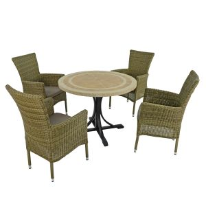 Langley 100cm Dining Table with 4 Dorchester Chairs