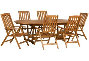 Royalcraft Edinburgh Extension Table & 6 Manhattan Recliners