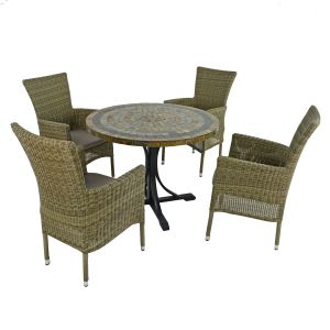 Monterey 100cm Dining Table with 4 Dorchester Chairs