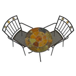 Ondara Bistro Table with 2 Malaga chairs