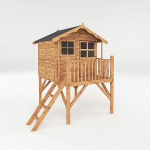 Mercia Poppy Tower Wooden Playhouse 7x5