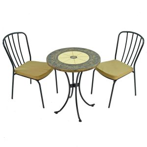 Rennes 60cm Bistro Table with 2 Milan Chairs