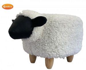 Gardeco Snowflake the Sheep Synthetic Fur Footstool