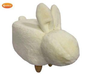 Gardeco Snowball The Small White Rabbit Velvet Footstool