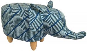 Gardeco Sultan The Diamond Fabric Elephant Footstool