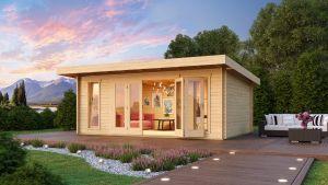 Sussex 2 Log Cabin 44mm 5.7m x 3.6m