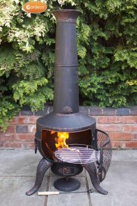 Gardeco Tia Large Bronze Steel and Cast Iron Chiminea