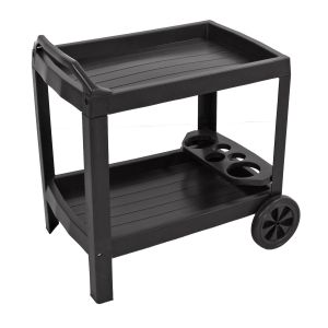 Naples Anthracite Resin Drinks Trolley