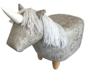Gardeco Savern the Unicorn Leatherette Footstool