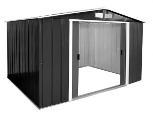 Sapphire Apex Metal Shed Anthracite 10x8