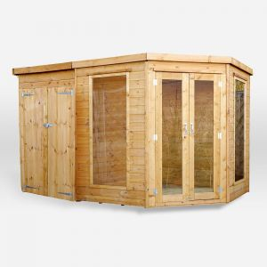 Mercia Corner Summerhouse with Side Shed 11x7