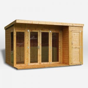 Mercia Contemporary Summerhouse with Side Shed 12x8