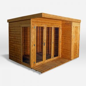 Mercia Contemporary Summerhouse with Side Shed10x8