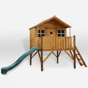 Mercia Honeysuckle Tower Wooden Playhouse with Slide