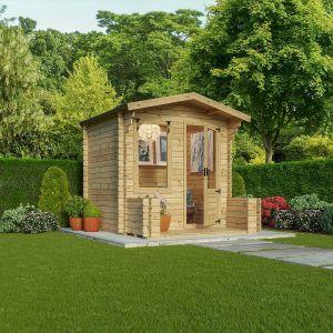 Mercia Studio Log Cabin with Veranda 2.7m x 2.5m