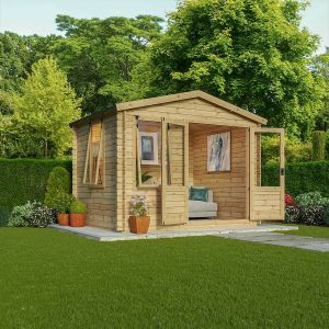 Mercia Studio Log Cabin 2.6m x 3.3m