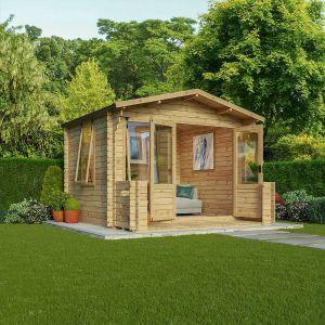 Mercia Studio Log Cabin with Veranda 3.3m x 3.7m