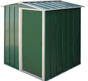 Sapphire Apex Metal Shed Green 5x4