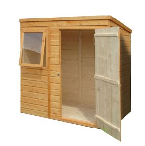 Shire Shiplap Pent Wooden Shed 6x4