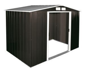 Sapphire Apex Metal Shed Anthracite 8x6