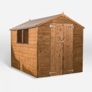 Mercia Pressure Treated Shiplap Apex Shed 8x6 Double Doors