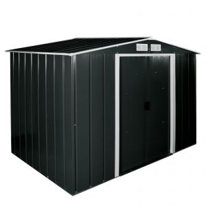 Sapphire Apex Metal Shed Anthracite 8x8