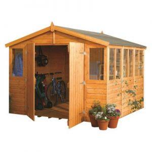 Rowlinson Wooden Workshop 9x15 (9x9 model shown)