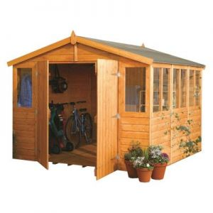 Rowlinson Wooden Workshop 9x18 (9x9 model shown)