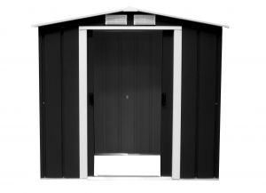 Sapphire Apex Metal Shed Anthracite 6x4