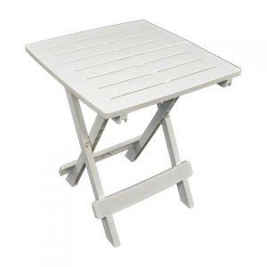 Bari White Side Table