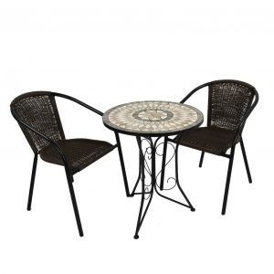 Brava Bistro Table with 2 San Remo Chairs