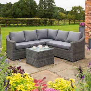 Rowlinson Bunbury Grey Weave Corner Sofa Set