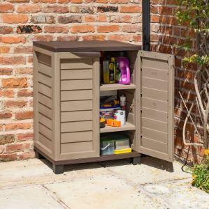 Rowlinson Plastic Utility Cabinet Mocha