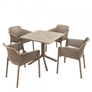 Clip Turtle Dove Dining Table with 4 Net Chairs