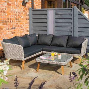 Rowlinson Hanoi Wicker Corner Sofa Set