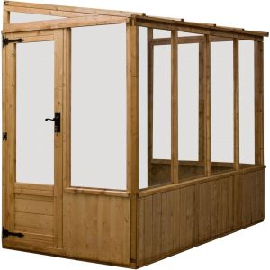 Mercia Lean-To Pent Wooden Greenhouse 8x4