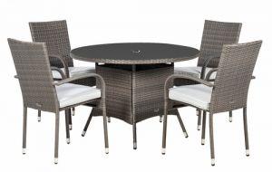 Royalcraft Malaga Rattan Round 4 Seater Dining Set