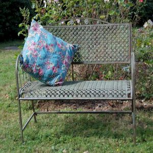 Marlborough Bench Antique Blue Rust (cushion not included)