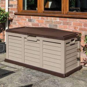 Rowlinson Plastic Storage Box/Bench Mocha 4.5ft x 2ft