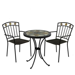 Montilla Bistro Table with 2 Malaga Chairs