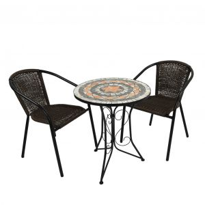 Nova Bistro Table with 2 San Remo Chairs