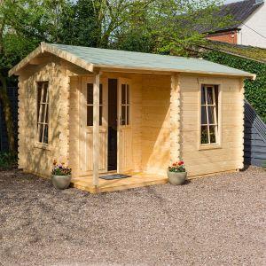 Garden Office Log Cabin 28mm 4.2m x 3.3m